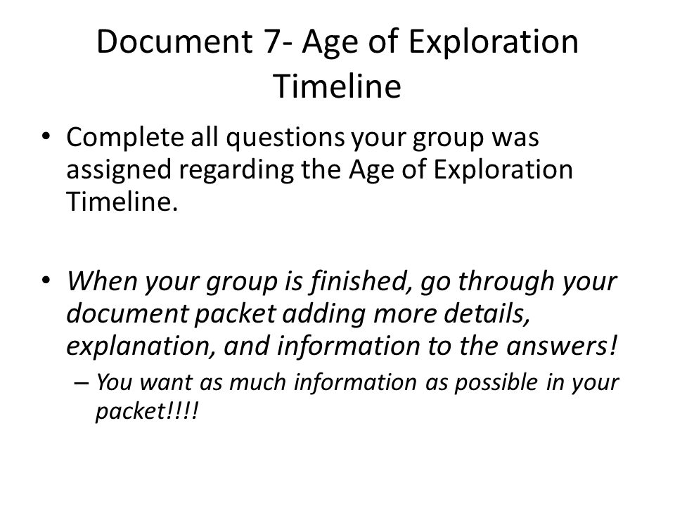 Age of exploration essay conclusion