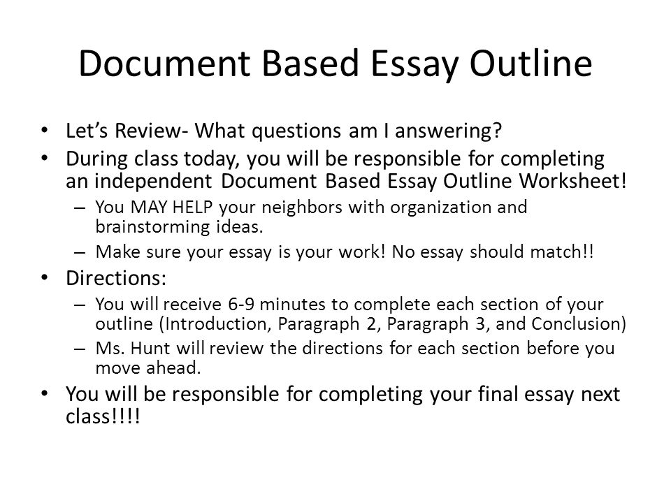 document based essay