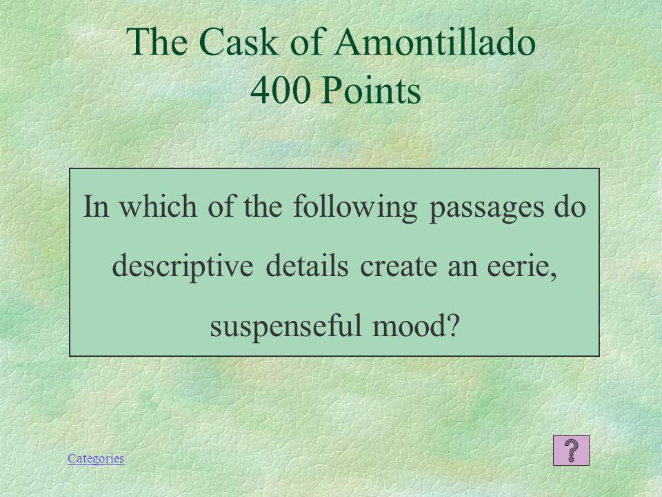 the cask of amontillado mood