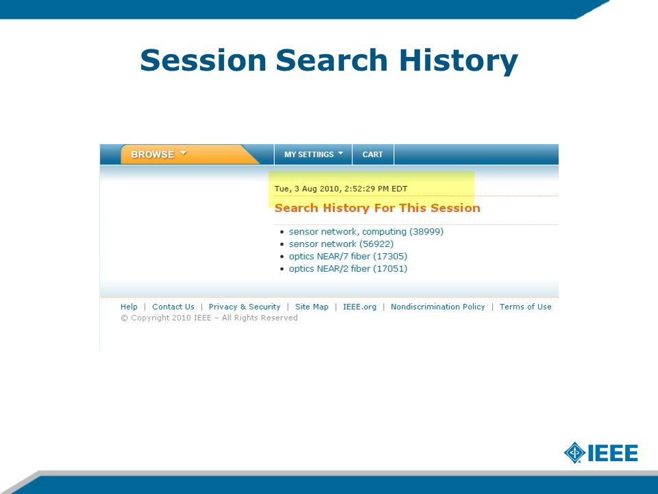 Session Search History