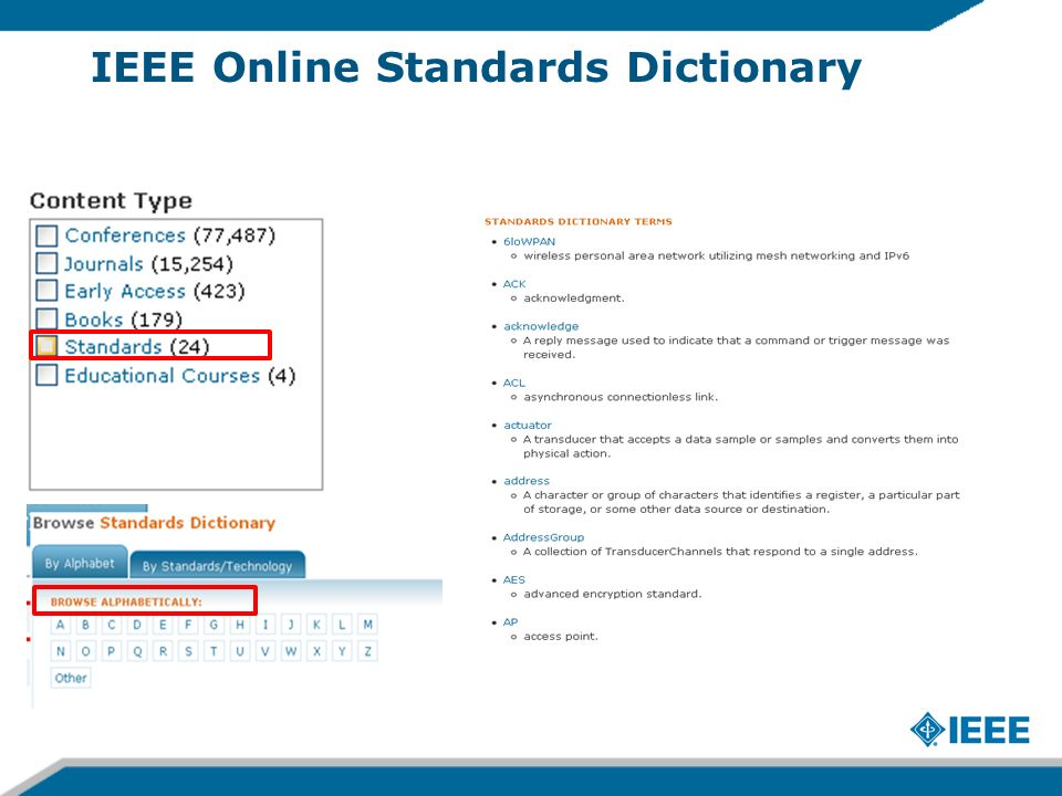 IEEE Online Standards Dictionary
