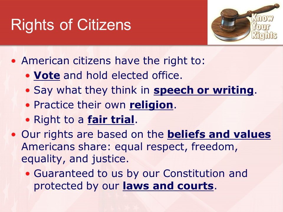 an analysis of the right of equality of american citizens Citizens are obligated to ensure the constitution is interpreted in a manner that promotes its purposes, values and principles, advances rule of law, human rights and bill of rights, permits development of the law and contributes to good governance.