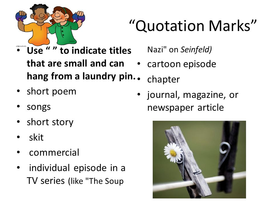 Quotation Marks in Titles