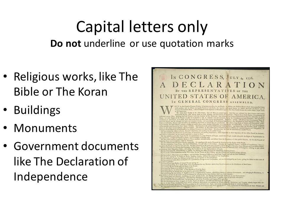 "Underline, Italicize, Or ""Quotation Marks""? - Ppt Download"