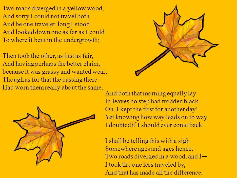 Poetry and Yellow Wood