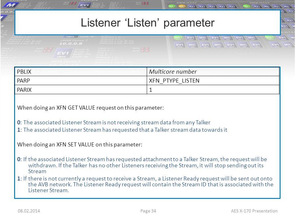 Listener 'Listen' parameter