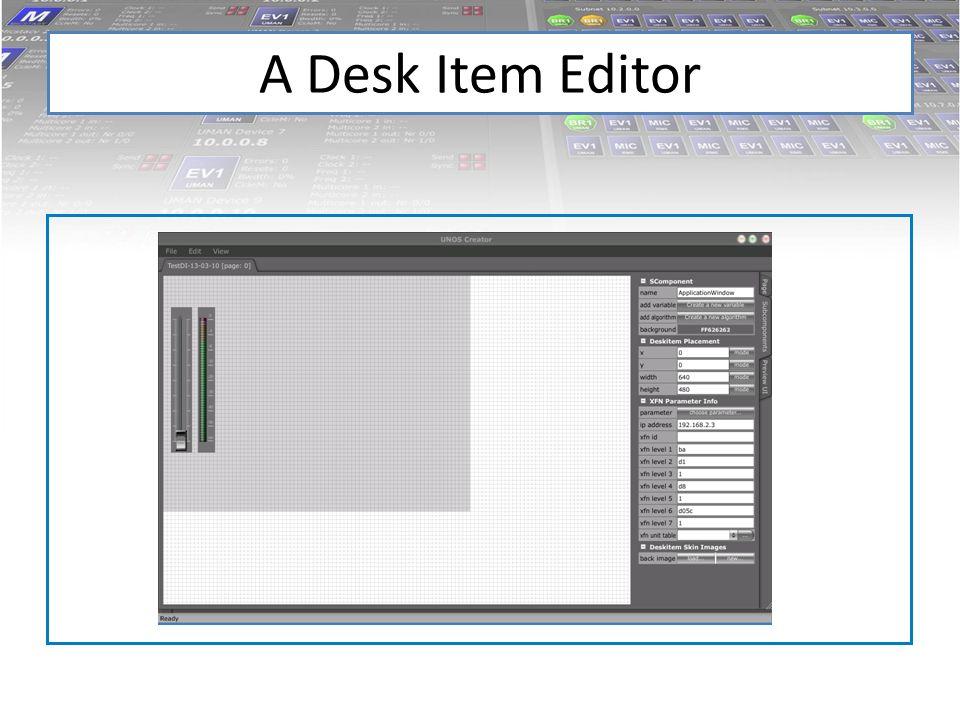 A Desk Item Editor