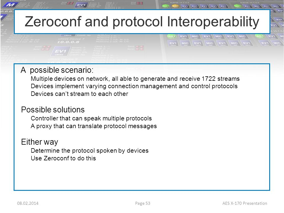 Zeroconf and protocol Interoperability