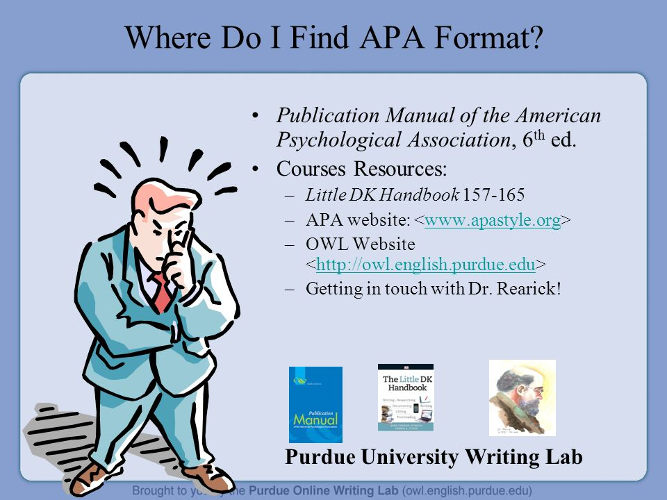 how to format in apa All college students must not only know how to read and understand writing, they need to know how to write using the apa citation style as well.