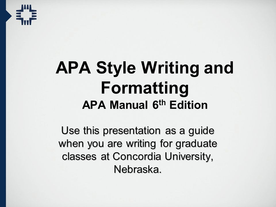 apa style writing and formatting apa manual 6th edition