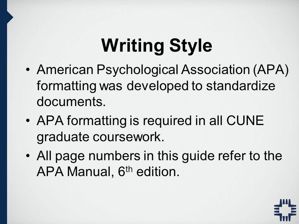 apa writing manual