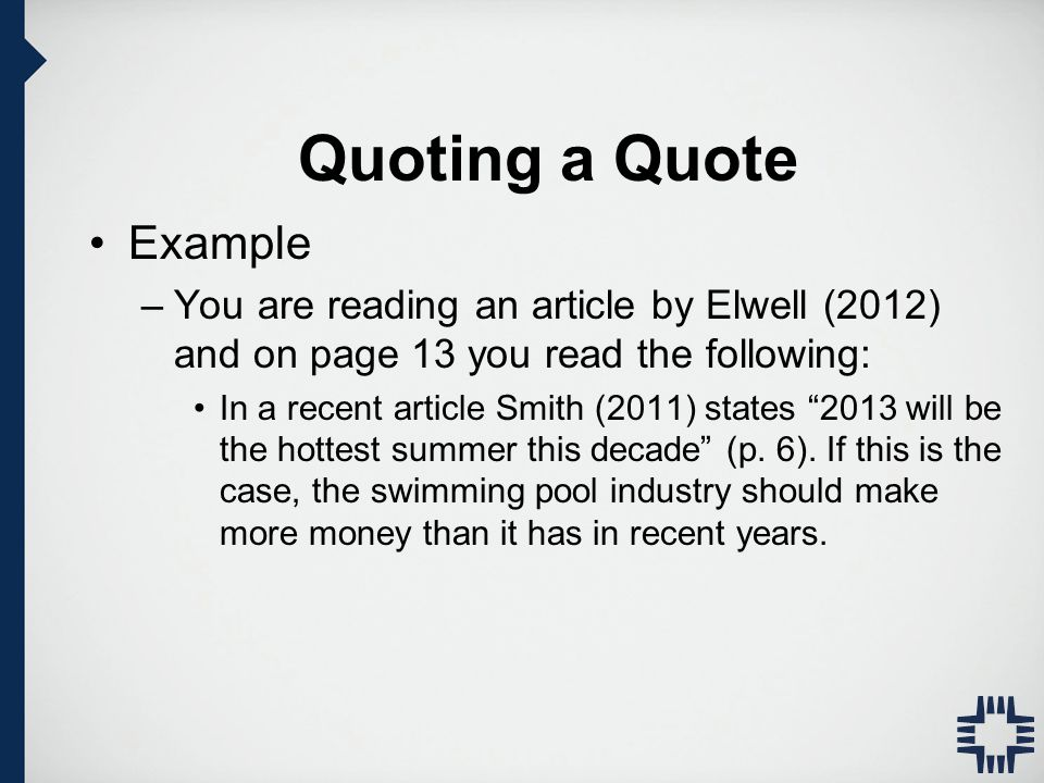 Quoting A Quote Extraordinary Apa Style Writing And Formatting Apa Manual 6Th Edition  Ppt