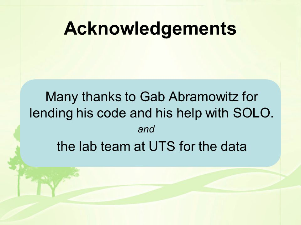 the lab team at UTS for the data