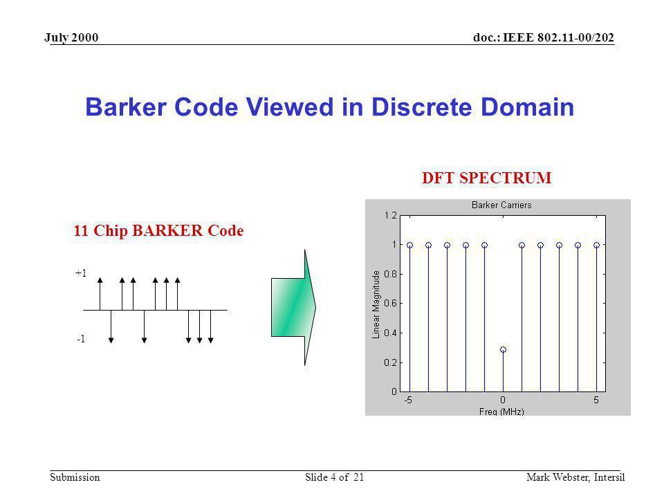 Barker Code Viewed in Discrete Domain