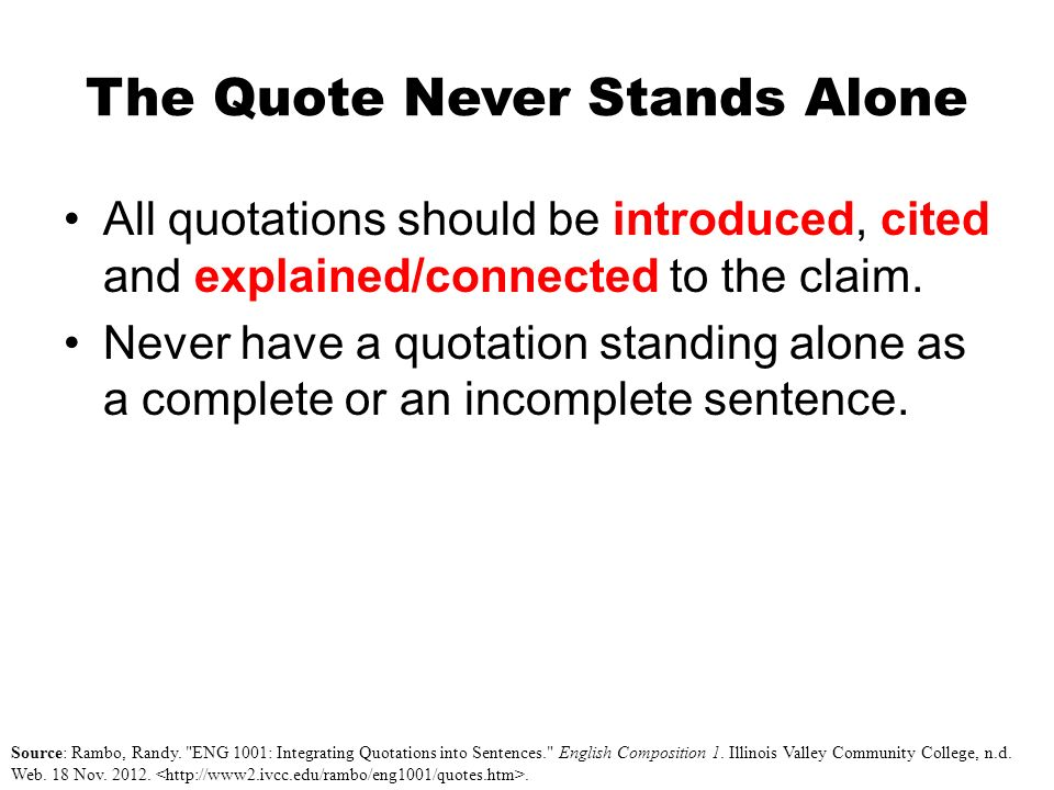 quotes in sentences in essays