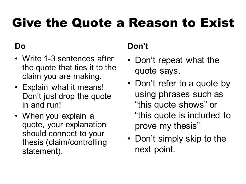 integrating quotes in your essays ppt video online  give the quote a reason to exist