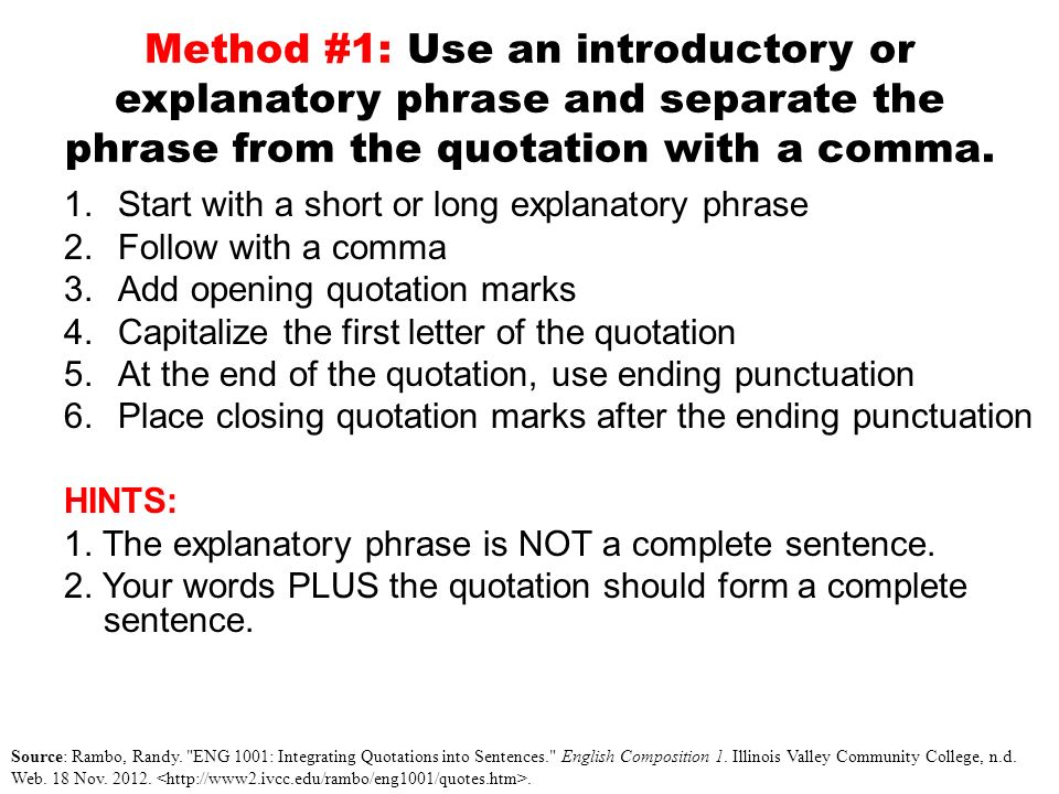 integrating quotes in your essays ppt video online  4 method