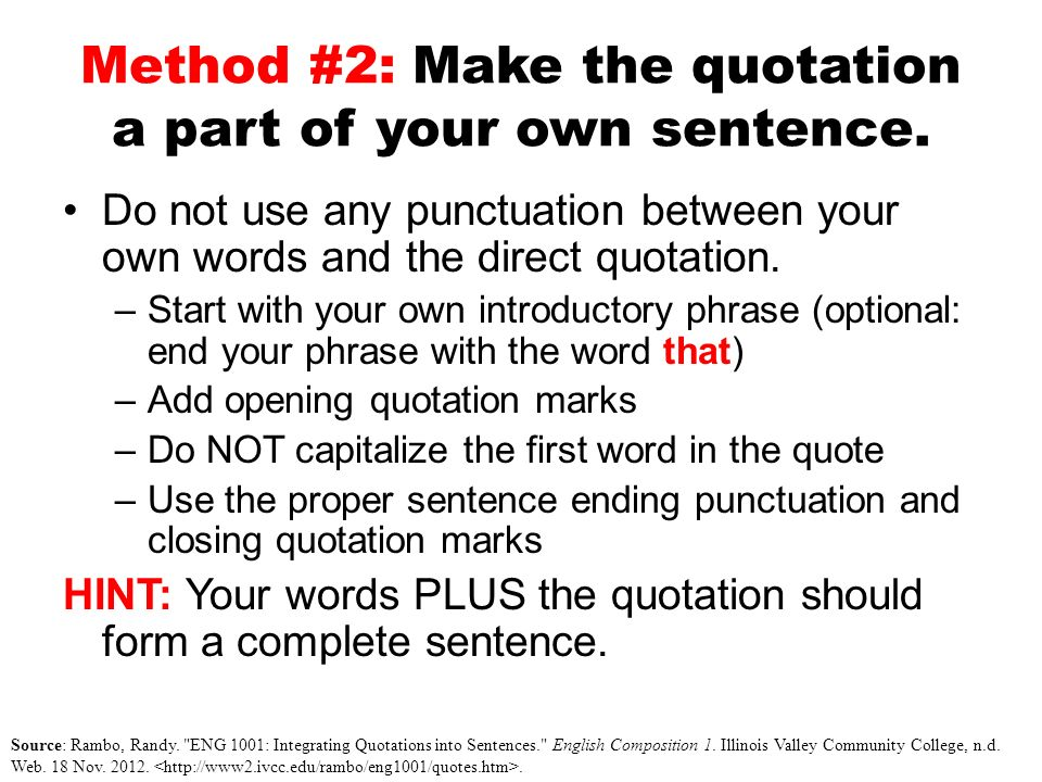 integrating quotes in your essays