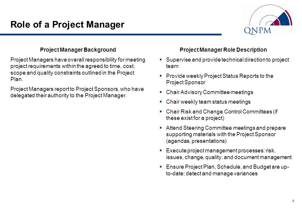 role of project manager Today's top 154068 project manager jobs in united states leverage your professional network, and get hired new project manager jobs added daily.