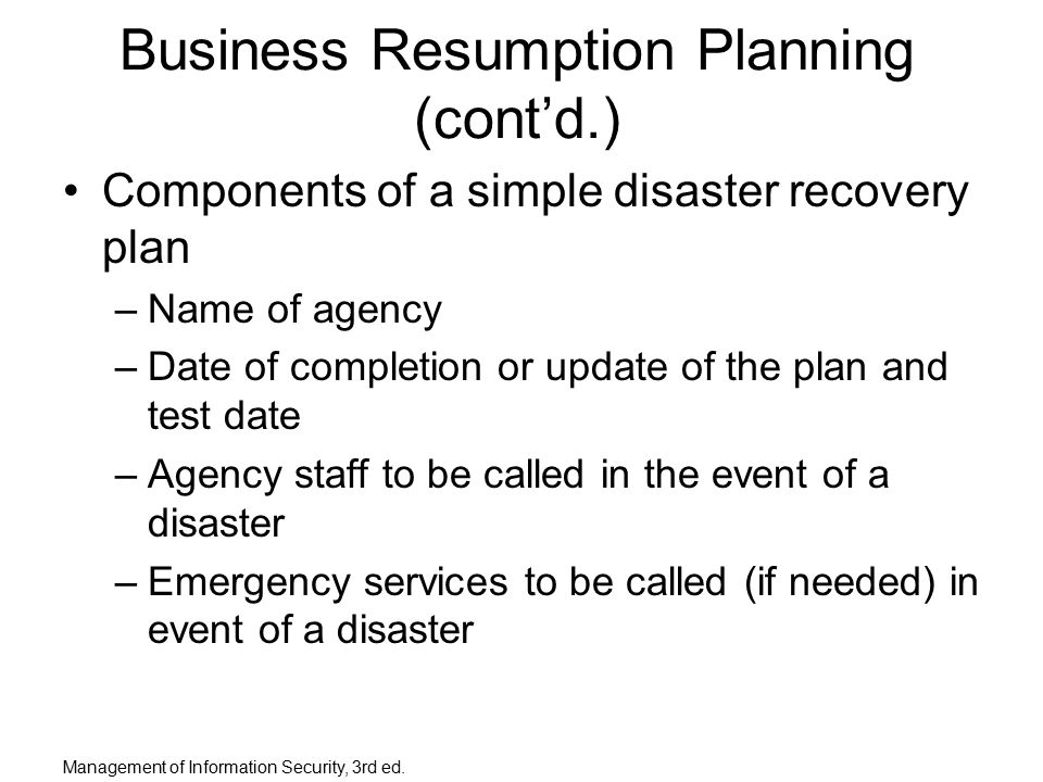 Planning For Contingencies Ppt Download