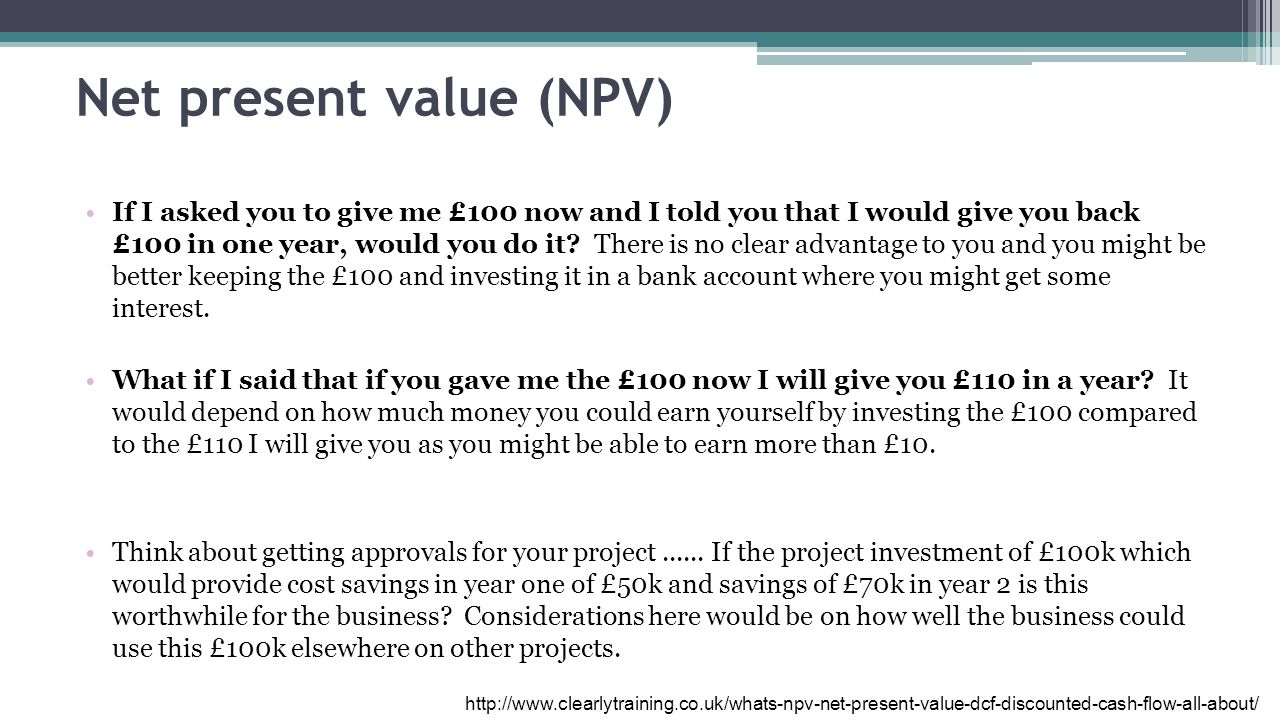 net present value and free cash