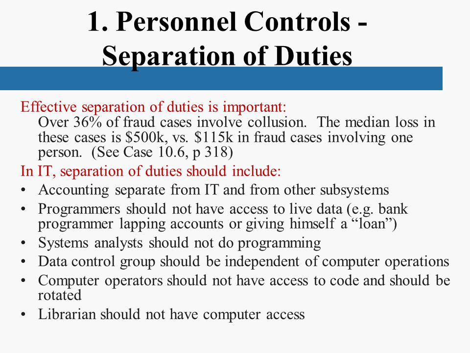 understanding the separation of duties in 221 understanding separation of duties constraints a key feature of the role and resource subsystem is the ability to define separation of duties (sod) constraints a separation of duties (sod) constraint is a rule that defines two roles that are considered to.