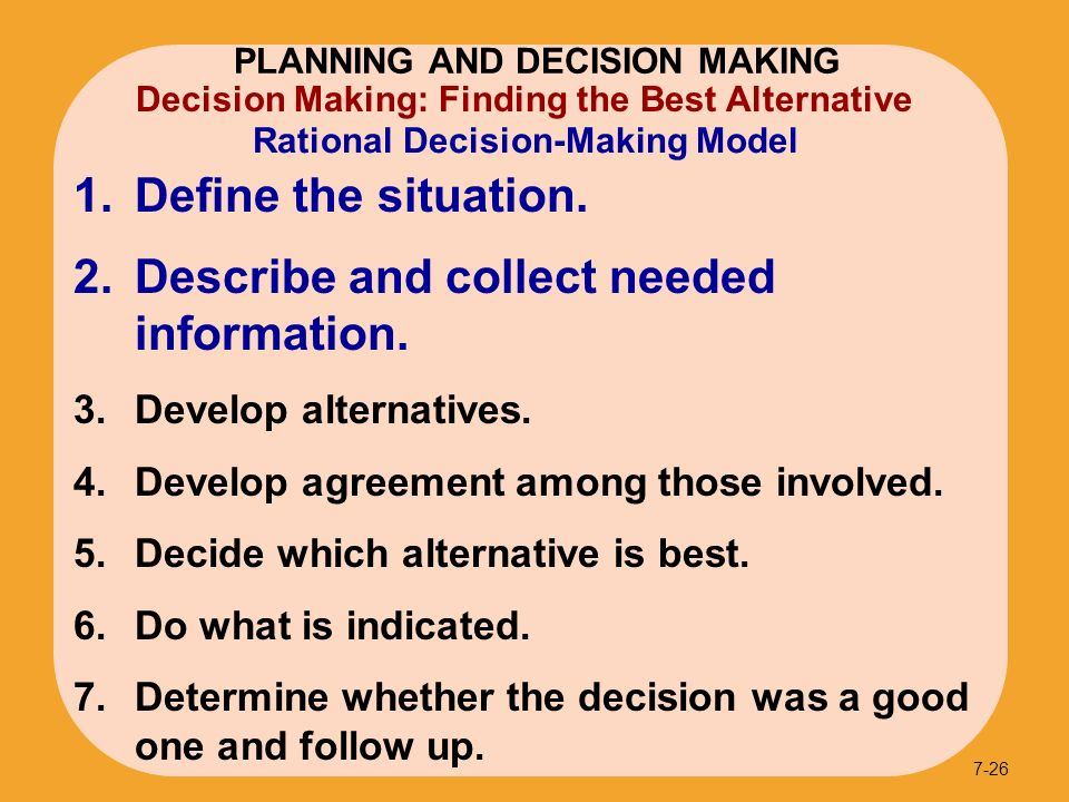 an introduction to the decision making model Introduction to decision making, part 2 robert harris  , and a standard procedural model  introduction to problem solving.