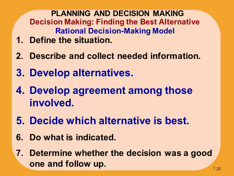 pure rational model in decision making Elements are always present also, a purely rational decision can be  herbert  simon dissects the components of rational decision-making in administrative.