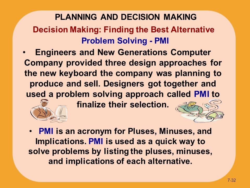 planning and decision making Planning & decision making in management chapter exam instructions choose your answers to the questions and click 'next' to see the next set of questions you can skip questions if you would like.