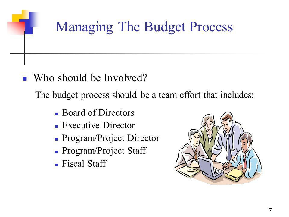 Managing The Budget Process