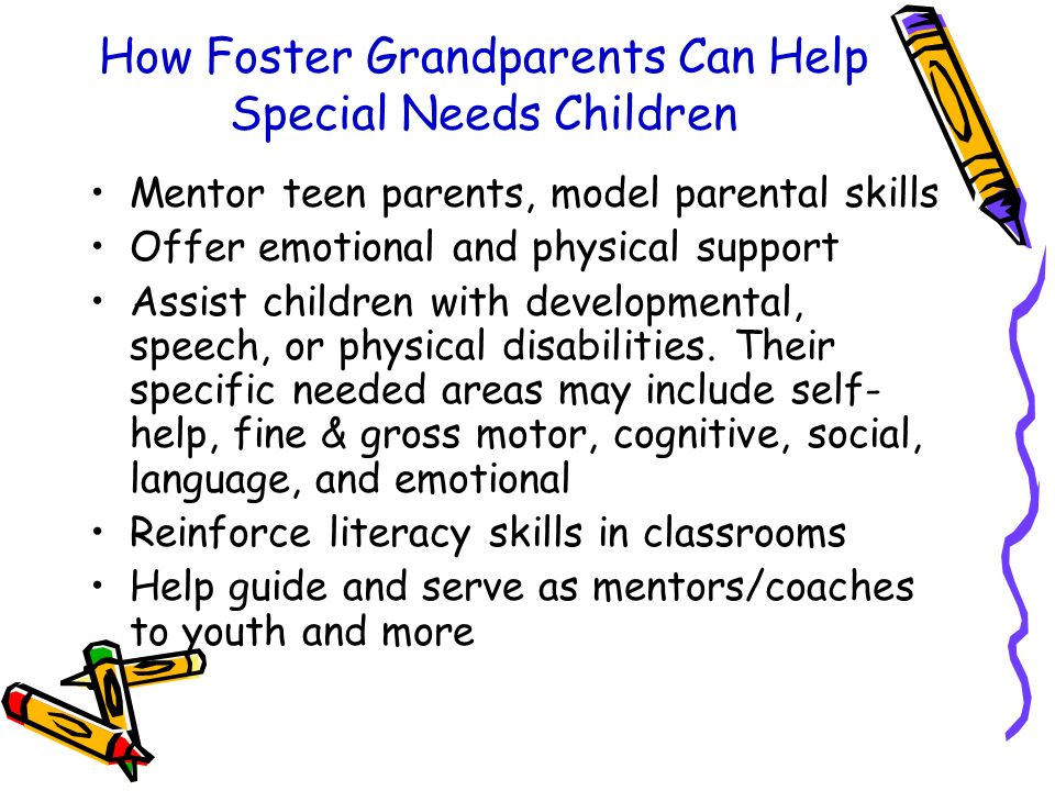 How Foster Grandparents Can Help Special Needs Children