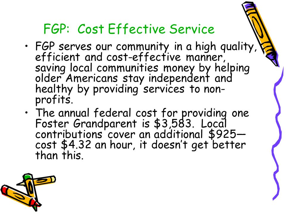 FGP: Cost Effective Service
