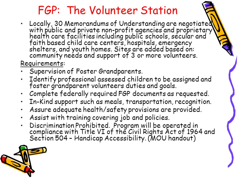 FGP: The Volunteer Station