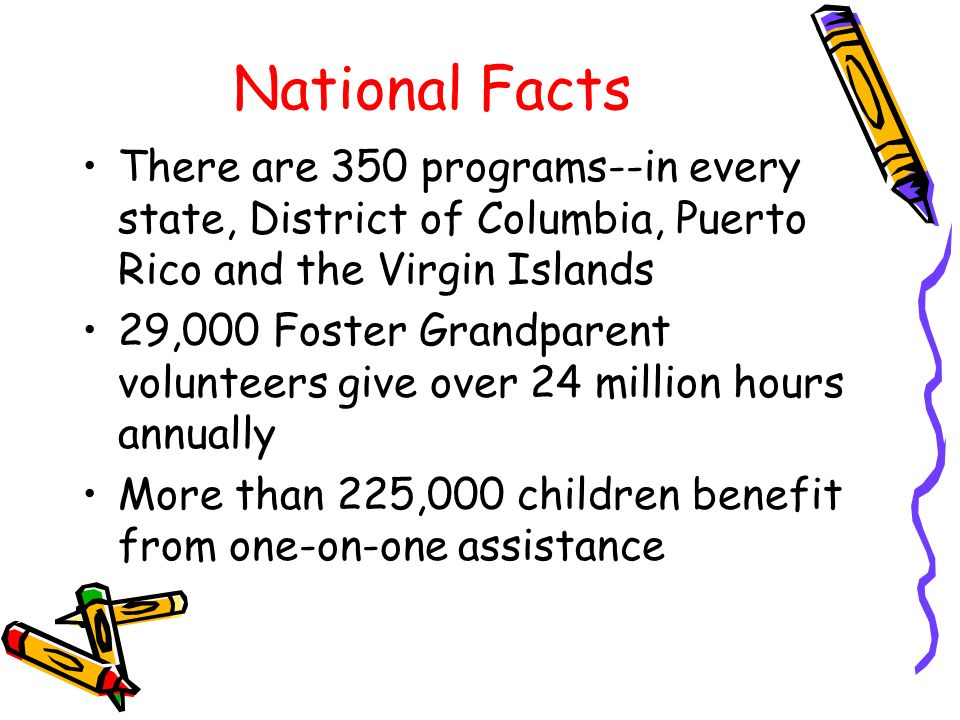 National Facts There are 350 programs--in every state, District of Columbia, Puerto Rico and the Virgin Islands.