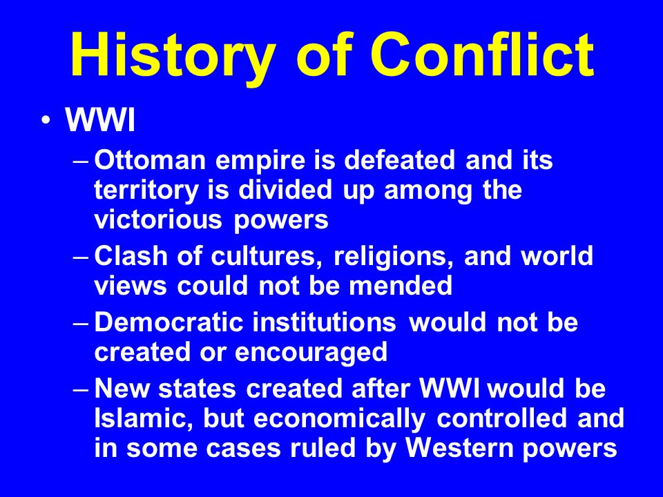 conflict between western and islamic civilizations More recent factors contributing to a western-islamic clash, huntington wrote, are the islamic resurgence and demographic explosion in islam, coupled with the values of western universalism – that is, the view that all civilizations should adopt western values – that infuriate islamic fundamentalists.
