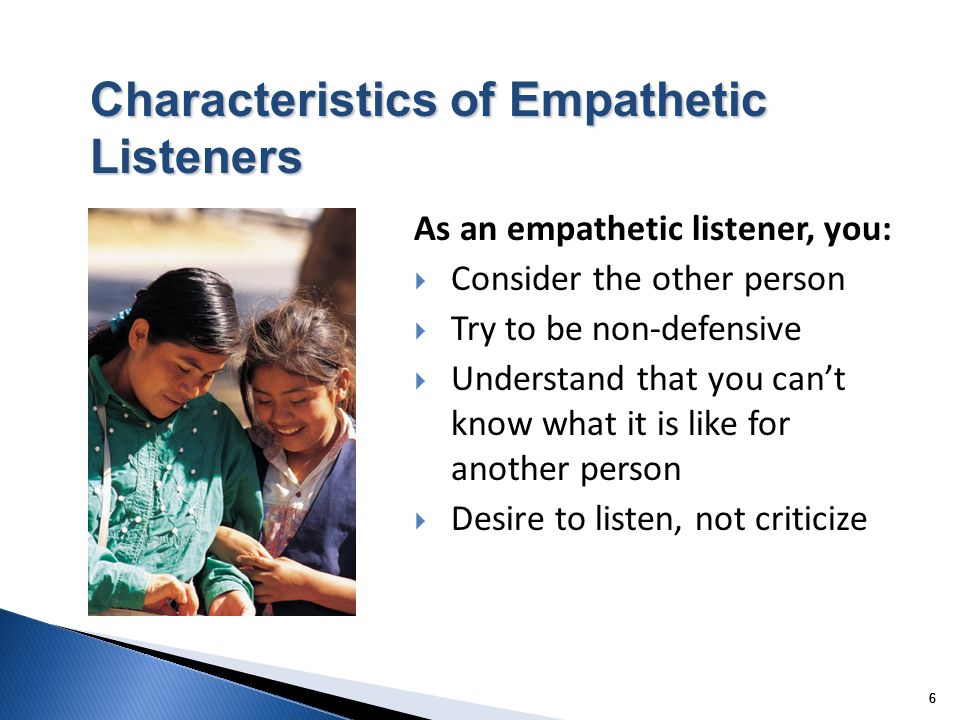 Characteristics of Empathetic Listeners