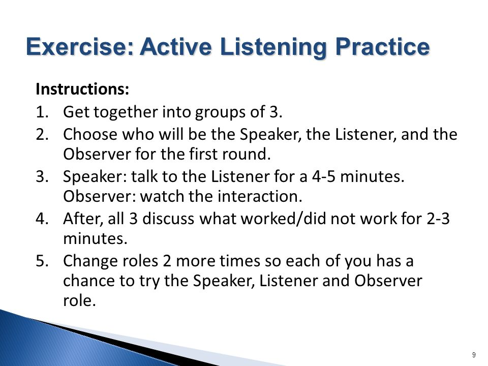 Exercise: Active Listening Practice