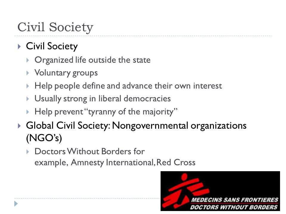 Tyranny Of Majority >> Part Four: Citizens, Society & the State - ppt download