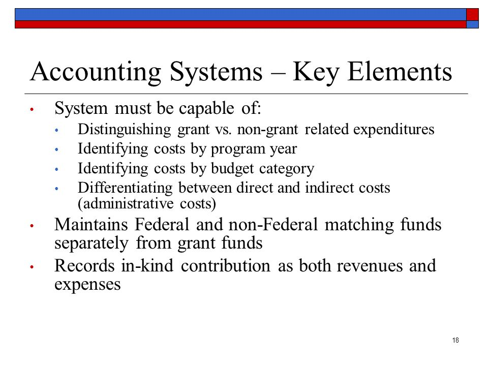 Accounting Systems – Key Elements