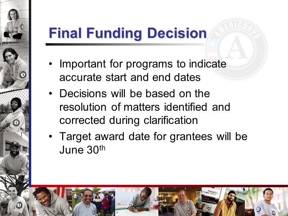 Final Funding Decision