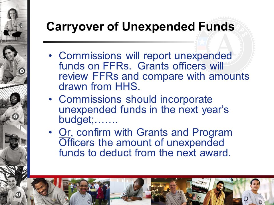 Carryover of Unexpended Funds