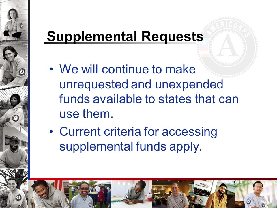 Supplemental Requests