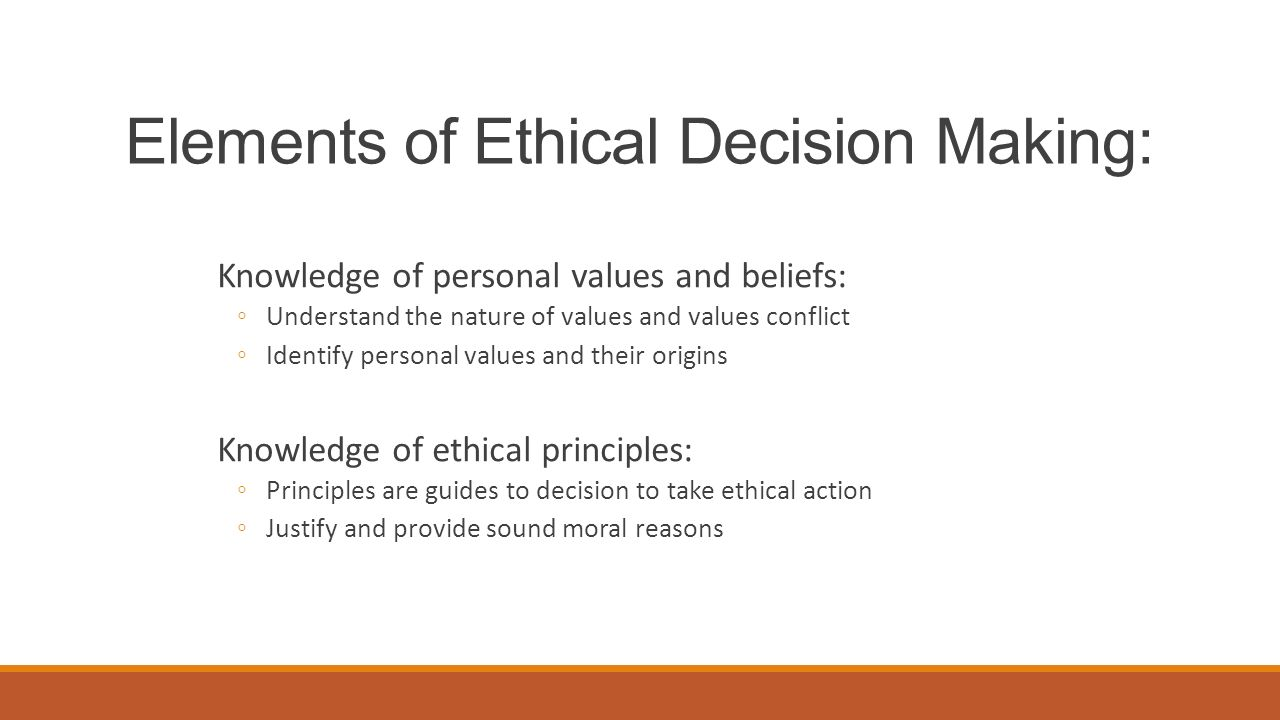 analysis of ethics and values
