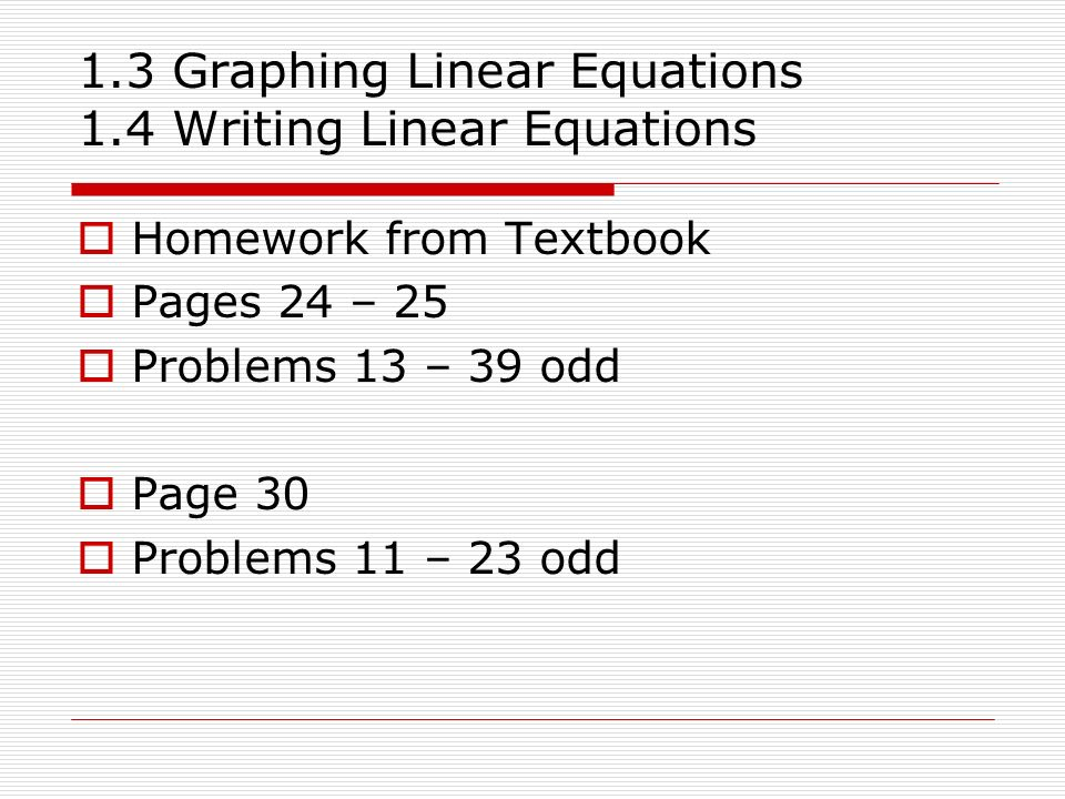 Homework writing services linear equations