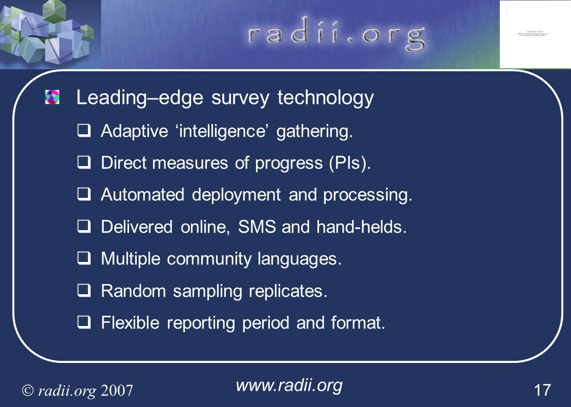 Leading–edge survey technology