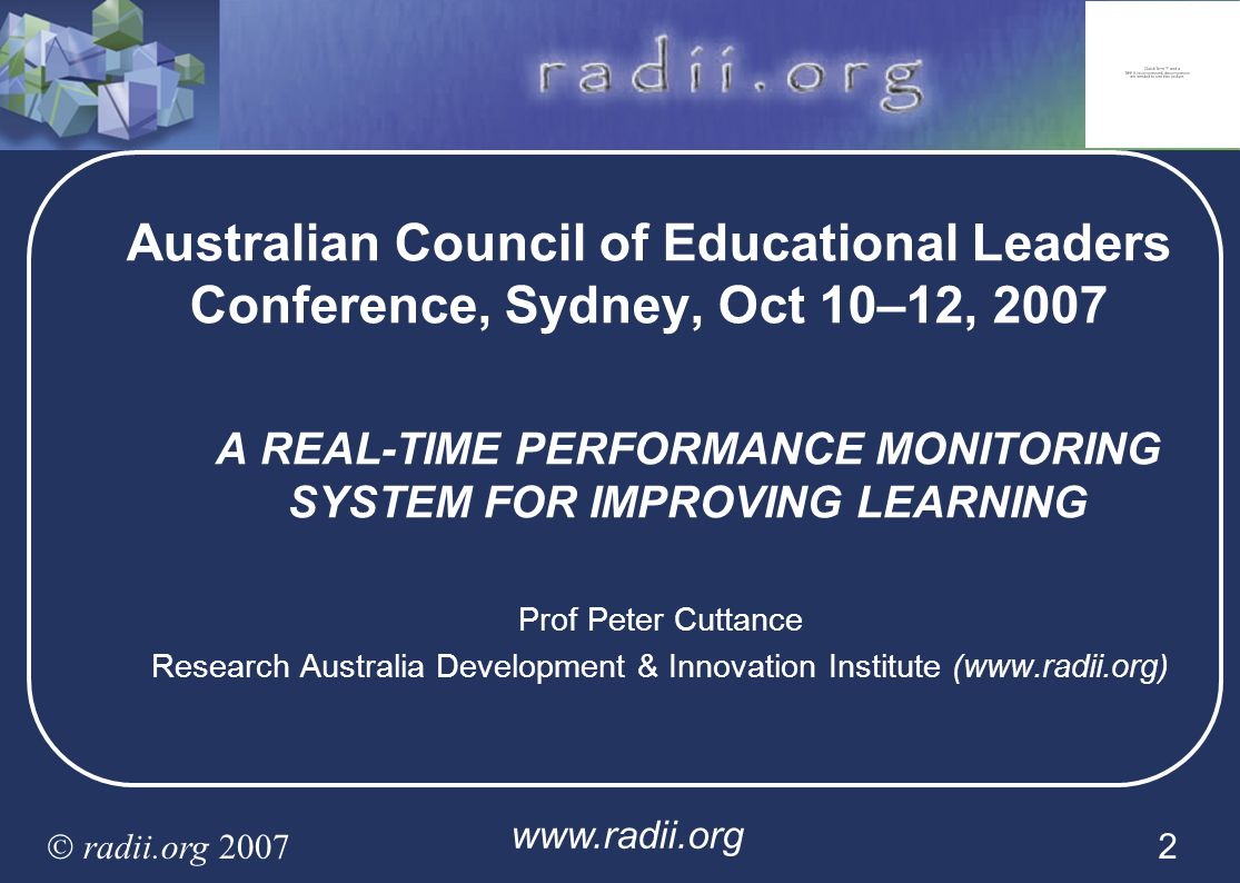 A REAL-TIME PERFORMANCE MONITORING SYSTEM FOR IMPROVING LEARNING