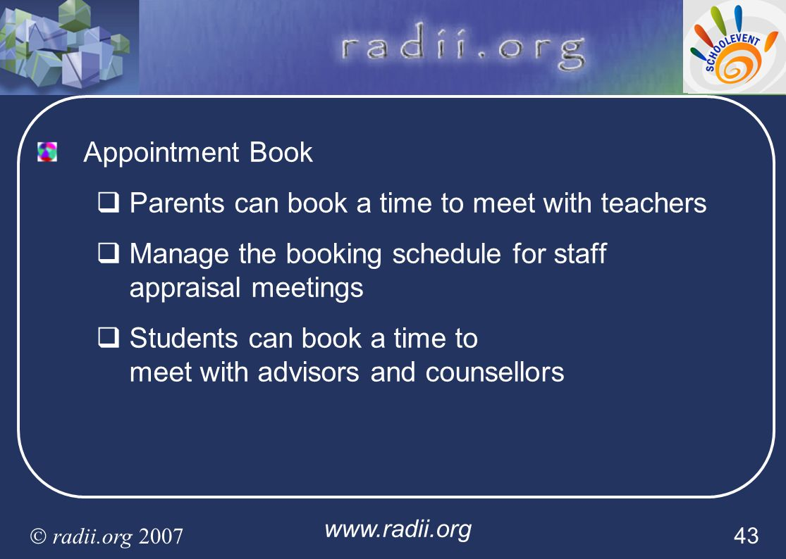 Parents can book a time to meet with teachers