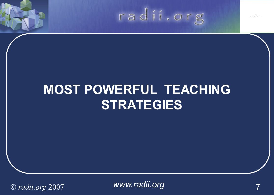 MOST POWERFUL TEACHING STRATEGIES