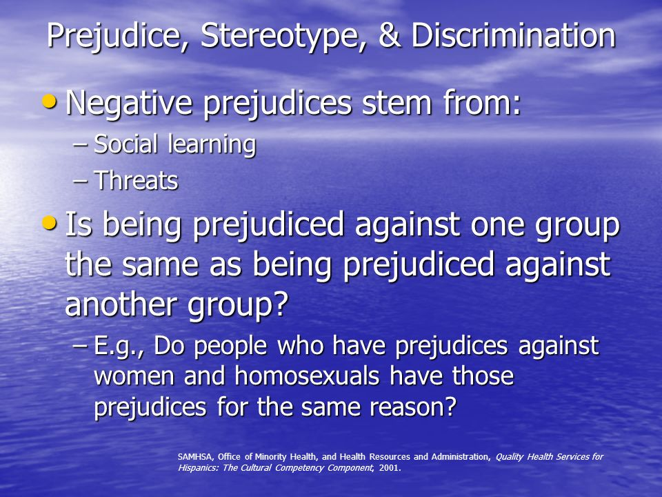 Prejudice, Stereotype, & Discrimination