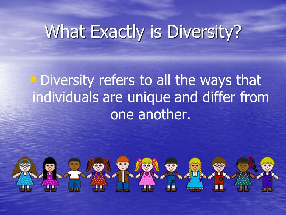 What Exactly is Diversity